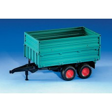 Tandemaxle tipping trailer with removeable top (02010)