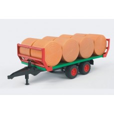 Bale transport trailer with 8 round bales (02220)